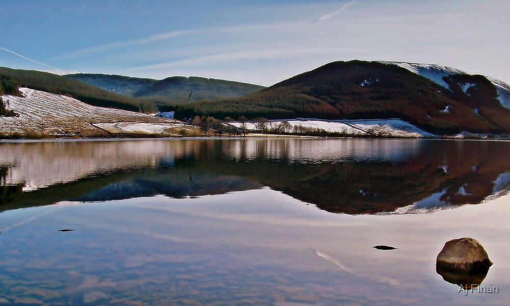 Reflections Over St. Mary's Loch In Scotland. by Aj Finan