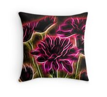 Glowing Bouquet Throw Pillow