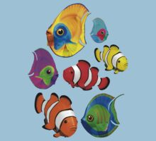 Tropical Fishes Pattern Kids Clothes