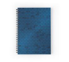 Blue Brick Wall Spiral Notebook