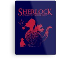 Sherlock - A scandal in Middle Earth (red) Metal Print