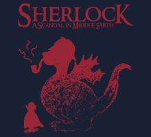 Sherlock - A scandal in Middle Earth (red) Baby Tee