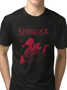 Sherlock - A scandal in Middle Earth (red) Tri-blend T-Shirt