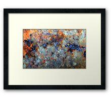 Ocean Oil Spill Abstract Framed Print