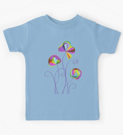 Colorful lollipop flowers  Kids Tee