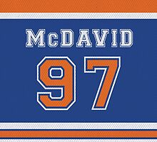 Oilers Connor McDavid #97 by RoufXis