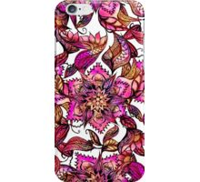 Bright watercolor floral mandala henna hand drawn iPhone Case/Skin