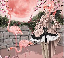 Flamingo Fairy - Pink Moon by Alison Spokes