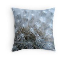 Dandelion Macro at Raven Run Throw Pillow