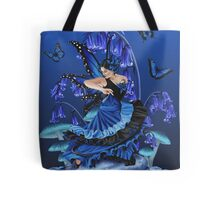 Blue Black Dancing Butterfly Fairy Tote Bag