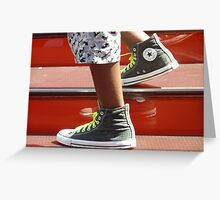 Stepping in Style Greeting Card