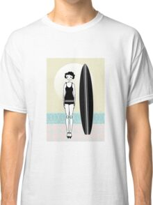 1920s Flapper Surfer Girl  Classic T-Shirt