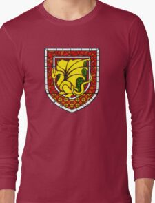 Stained Glass Pendragon Crest Long Sleeve T-Shirt