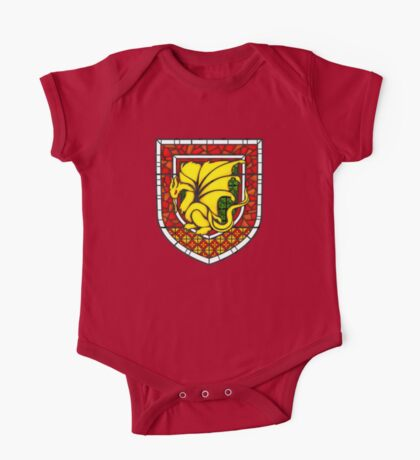 Stained Glass Pendragon Crest One Piece - Short Sleeve