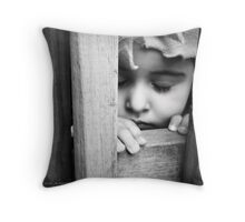 .hide and seek. Throw Pillow