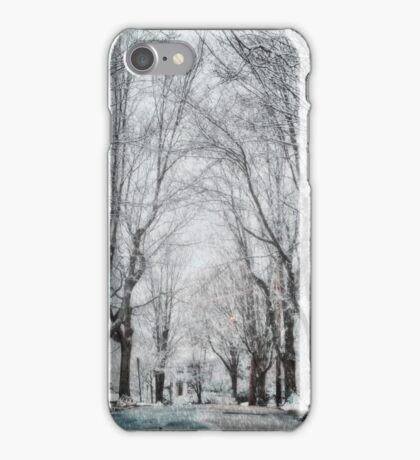 Snow. Brookline MA iPhone Case/Skin