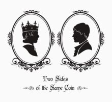Two Sides of the Same Coin (black) Kids Tee