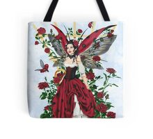 Ladybug Fairy Red Rose Garden Tote Bag