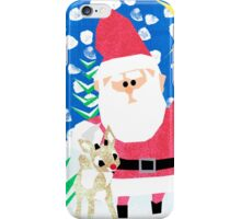 Santa and Rudolph iPhone Case/Skin