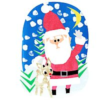 Santa and Rudolph Photographic Print