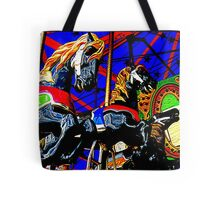 Wildly Galloping Carousel Horseys  Tote Bag