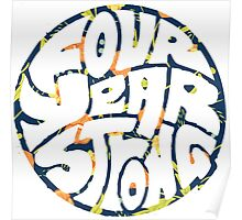 Four Year Strong Floral 1 Poster