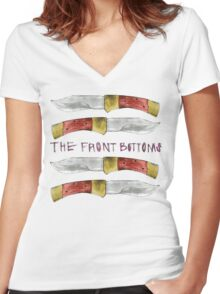 Talon of the Hawk - The Front Bottoms  Women's Fitted V-Neck T-Shirt