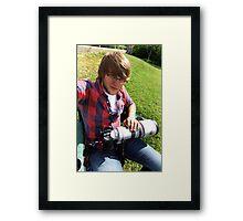Self Portrait at Rock Cut! Framed Print