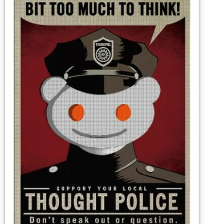 Reddit Thought Police Sticker