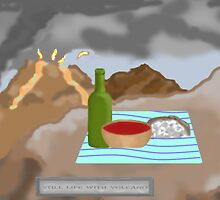 Still Life with Volcano by Marc Grossberg