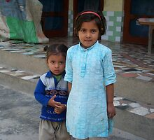 Adorable Little Indian Children by Angie Spicer