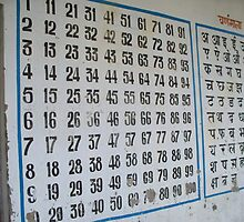Numbers and Hindi Letters by Angie Spicer