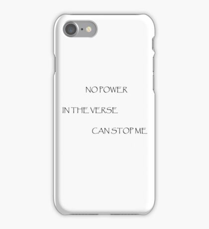 No Power in the Verse (Light) iPhone Case/Skin