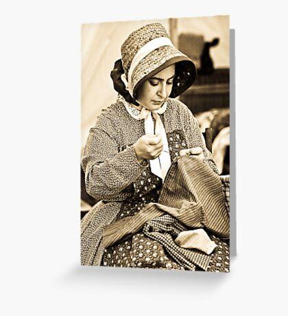 Civil War Seamstress Greeting Card