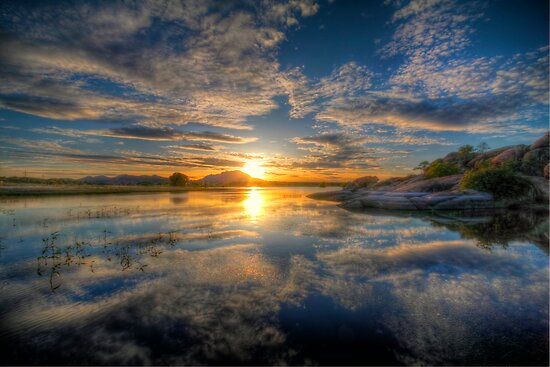 Sunset Reflect 1 by Bob Larson