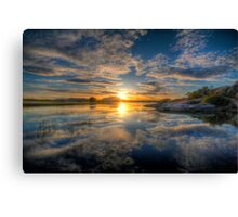 Sunset Reflect 1 Canvas Print