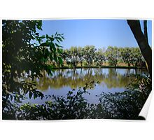 U Shape Framing reflections Poster