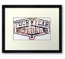 Four Year Strong logo 2 Framed Print