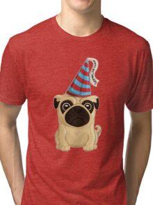 Birthday Pug 1 Tri-blend T-Shirt