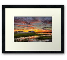 Yada, Yada, Sunset Framed Print