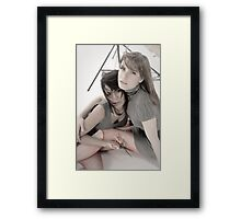 Playing with Sharp Objects Framed Print