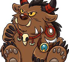 Tauren Bear Druid Sticker by Cadistra