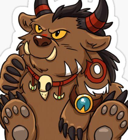 Tauren Bear Druid Sticker Sticker