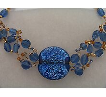 Blue Beaded Collar Photographic Print