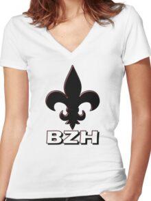 BZH - Breizh - Bretagne - Brittany France Women's Fitted V-Neck T-Shirt