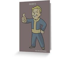 Fallout 3 Vault Boy typography Greeting Card