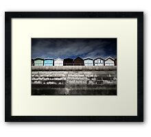 Small Huts, Big World Framed Print