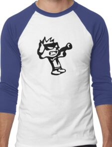 Spiff's Death Ray (Blue) Men's Baseball ¾ T-Shirt
