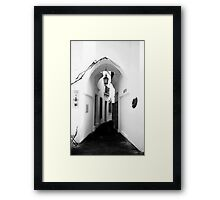 White washed walls in Barcelona Framed Print