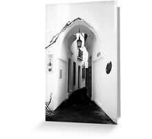 White washed walls in Barcelona Greeting Card